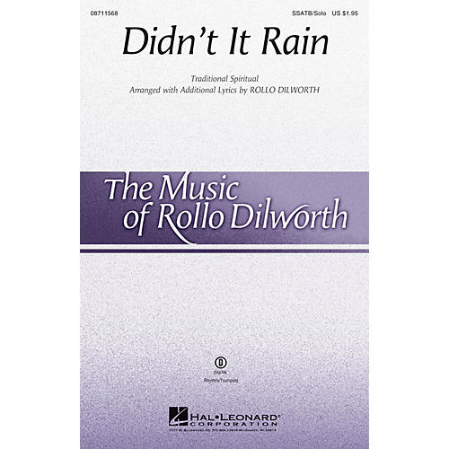Hal Leonard Didn't It Rain SSATB CHORUS AND SOLO arranged by Rollo Dilworth
