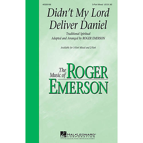 Hal Leonard Didn't My Lord Deliver Daniel 3-Part Mixed arranged by Roger Emerson
