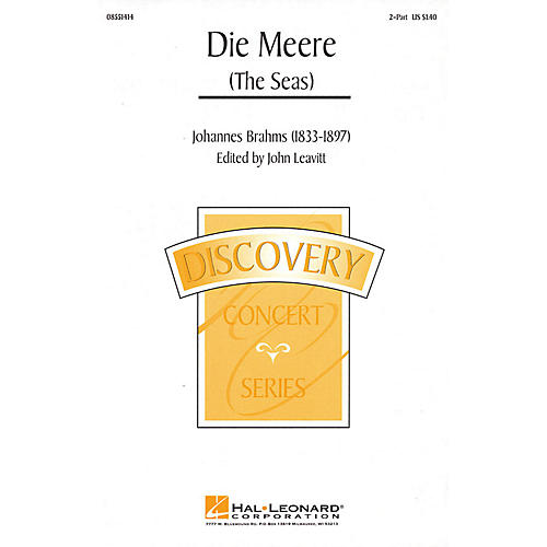 Hal Leonard Die Meere (The Seas) 2-Part arranged by John Leavitt