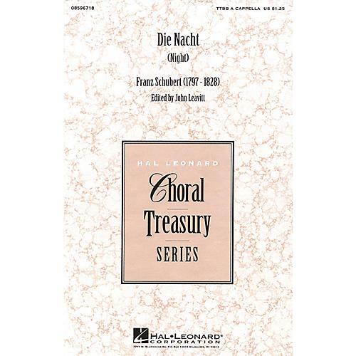 Hal Leonard Die Nacht (Night) TTBB A Cappella arranged by John Leavitt