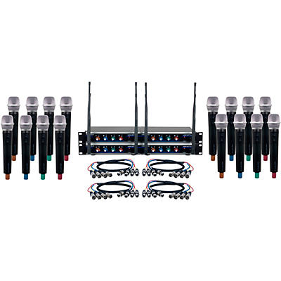 Vocopro Digital-Acapella-16 16-Channel UHF Wireless Handheld Microphone System