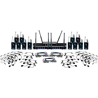 VocoPro Digital-Play-12 12-Channel UHF Wireless Headset/Lapel Microphone System