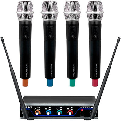 VocoPro Digital-Quad-H Wireless Handheld Microphone System, Frequency Set 1