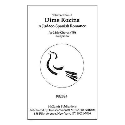 Transcontinental Music Dime Rozina TB arranged by Yehezkel Braun