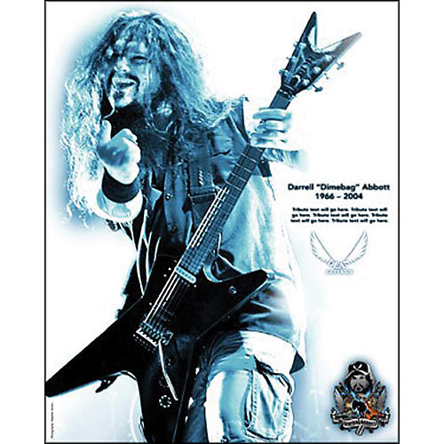 Dean Dimebag He Came To Rock Poster