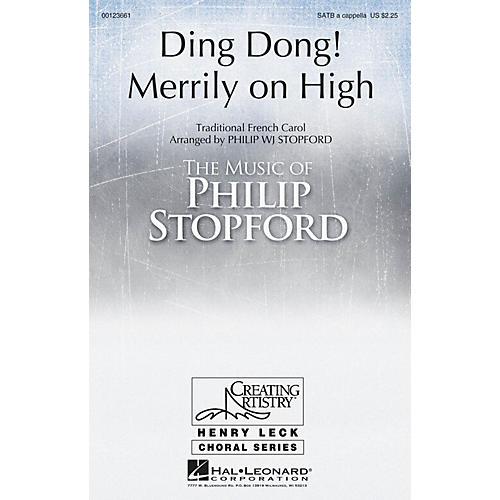 Hal Leonard Ding Dong Merrily on High DOUBLE SATB, A CAPPELLA arranged by Philip Stopford