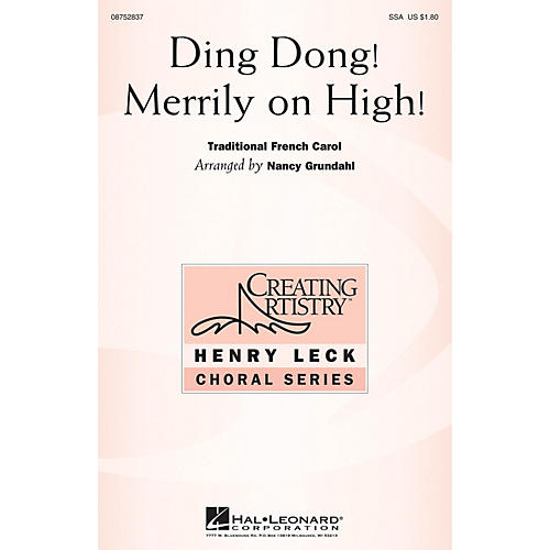Hal Leonard Ding Dong Merrily on High SSA arranged by Nancy Grundahl