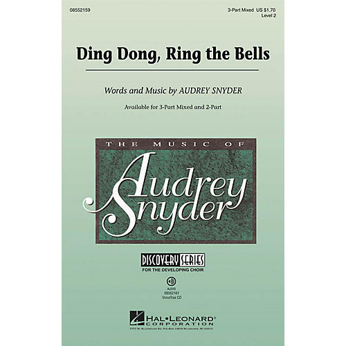 Hal Leonard Ding Dong, Ring the Bells (Discovery Level 2) 2-Part Composed by Audrey Snyder