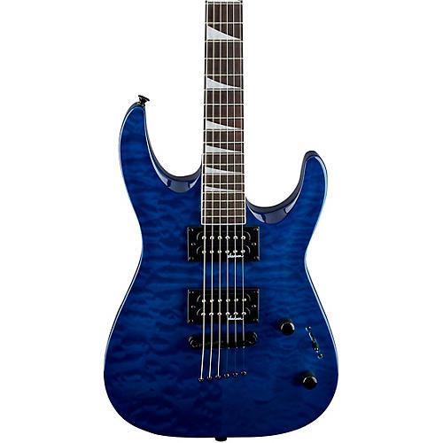 Jackson Dinky JaS32TQ DKA Arch Top Electric Guitar Transparent Blue