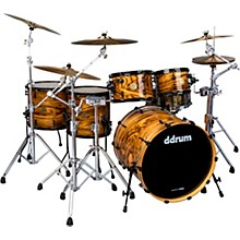 "ddrum Dios 5-piece Exotic Zebra Wood Shell Pack with 22"" Bass Drum"