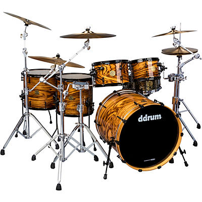 """ddrum Dios 5-piece Exotic Zebra Wood Shell Pack with 22"""" Bass Drum"""