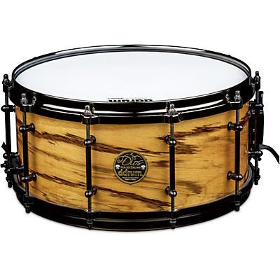 ddrum Dios Maple Snare Drum with Exotic Zebra Wood Veneer
