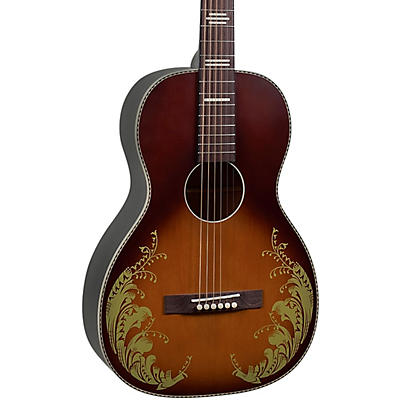 Recording King Dirty 30s 7 Single 0 Limited-Edition Lily of the Valley Acoustic Guitar