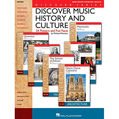 Hal Leonard Discover Music History And Culture - Set Of 24 Posters and Fun Facts