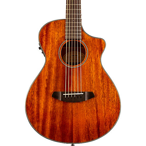 Breedlove Discovery Companion CE Mahogany Acoustic-Electric Guitar Natural