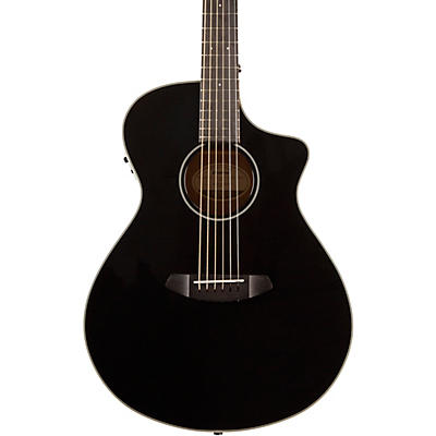 Breedlove Discovery Concert Black CE Sitka Spruce-Mahogany  Acoustic-Electric Guitar