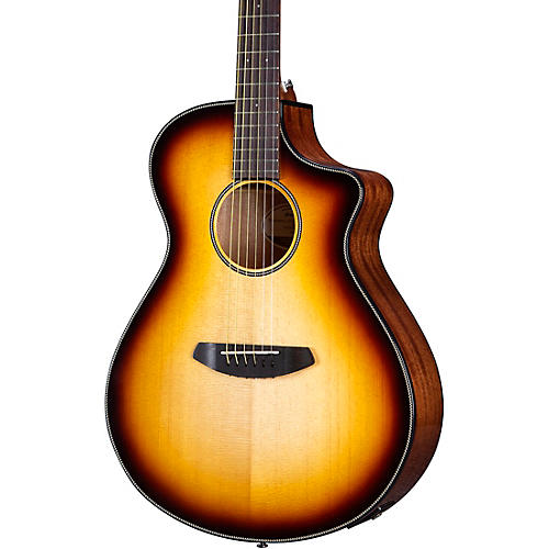 Breedlove Discovery Concert CE Acoustic-Electric Guitar Edge Burst