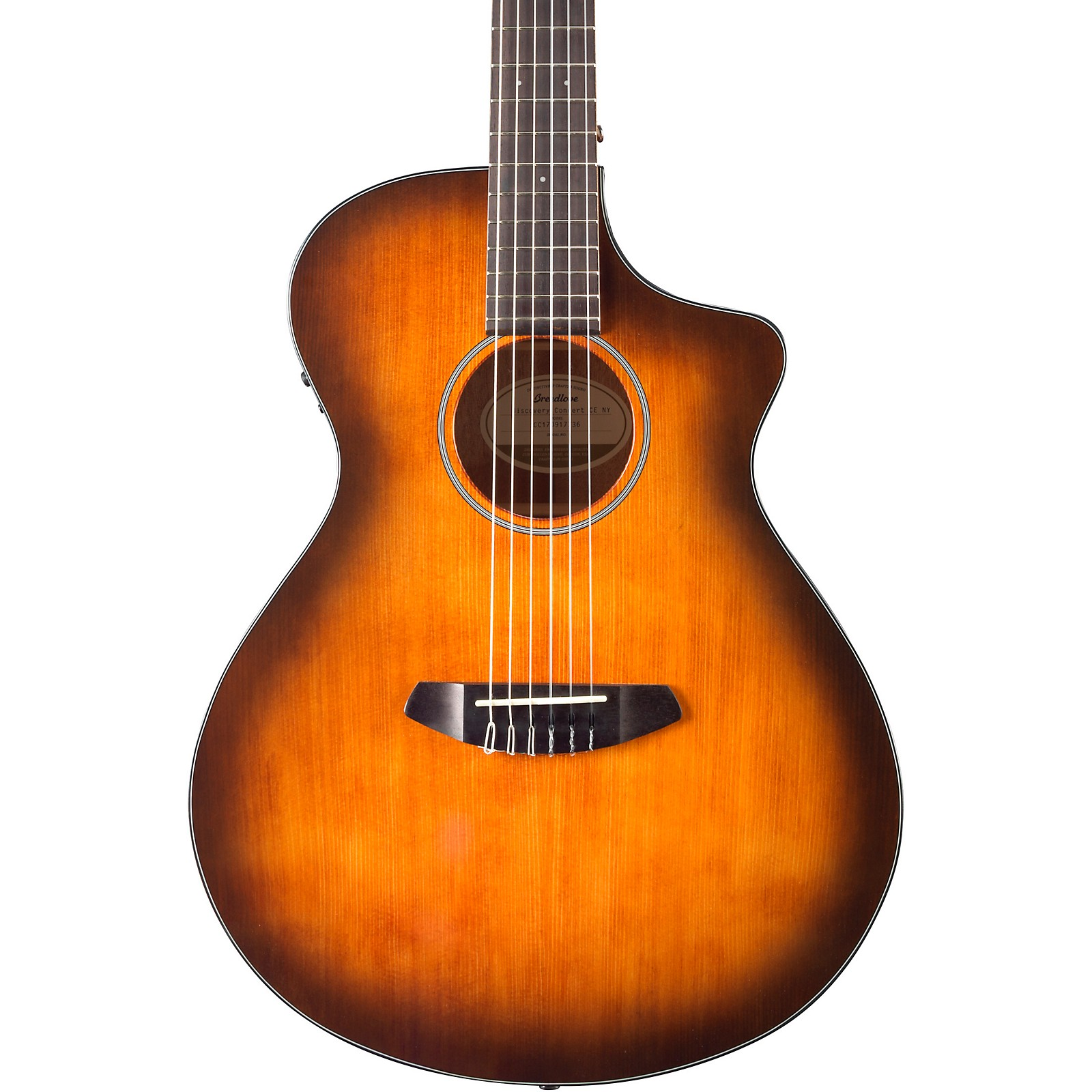 Breedlove Discovery Concert Nylon Cutaway CE Mahogany Acoustic-Electric Guitar With Engelmann Spruce Top