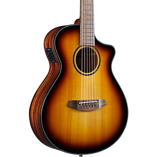 Breedlove Discovery S CE Red cedar-African Mahogany Companion Acoustic-Electric Guitar Edge Burst