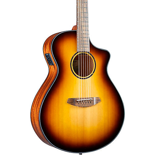 Breedlove Discovery S CE Red cedar-African Mahogany Concert Acoustic-Electric Guitar Edge Burst