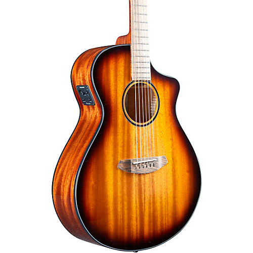 Breedlove Discovery S CE Sitka-African Mahogany Concert Acoustic-Electric Guitar Edge Burst