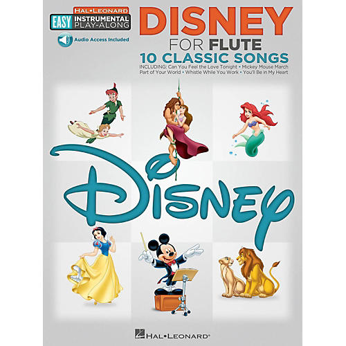 Hal Leonard Disney - Flute - Easy Instrumental Play-Along Book with Online Audio Tracks
