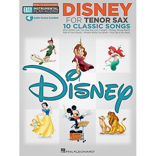 Hal Leonard Disney - Tenor Sax - Easy Instrumental Play-Along Book with Online Audio Tracks