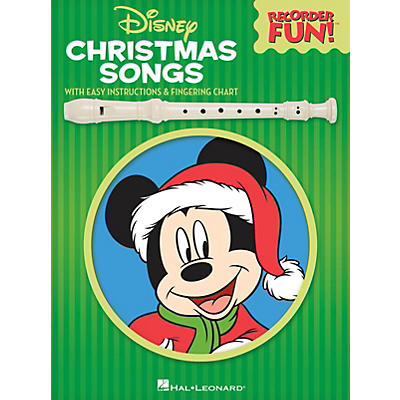 Hal Leonard Disney Christmas Songs Recorder Series Softcover