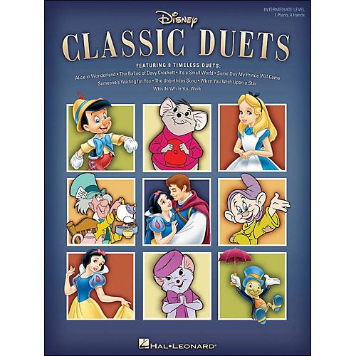 Hal Leonard Disney Classic Duets Intermediate Level 1 Piano, 4 Hands