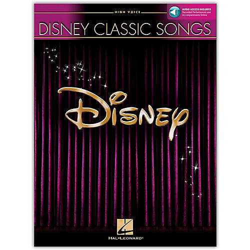 Hal Leonard Disney Classic Songs for High Voice Book/Online Audio