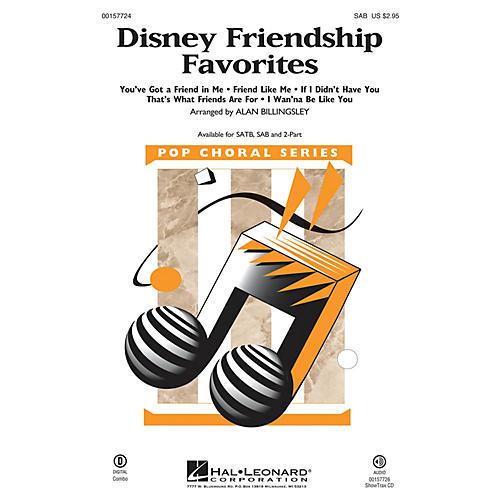 Hal Leonard Disney Friendship Favorites (Medley) SAB arranged by Alan Billingsley