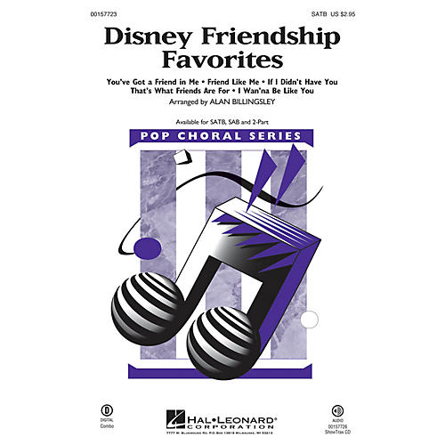 Hal Leonard Disney Friendship Favorites (Medley) SATB arranged by Alan Billingsley