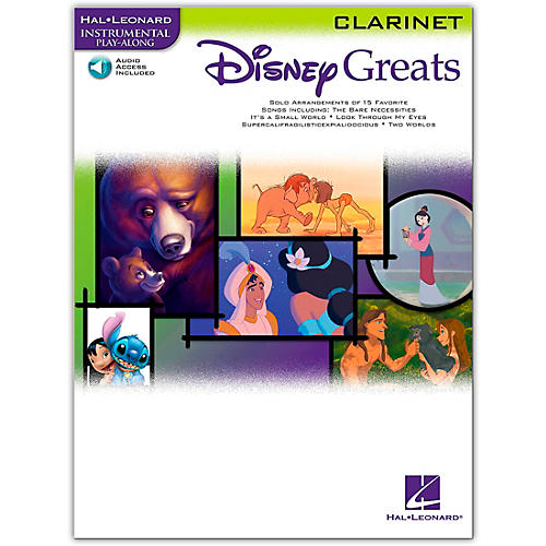 Hal Leonard Disney Greats for Clarinet Book/Online Audio Instrumental Play-Along