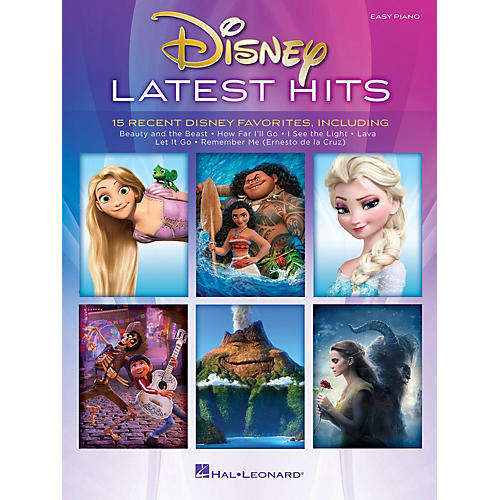 Hal Leonard Disney Latest Hits (15 Recent Disney Favorites) Easy Piano Songbook