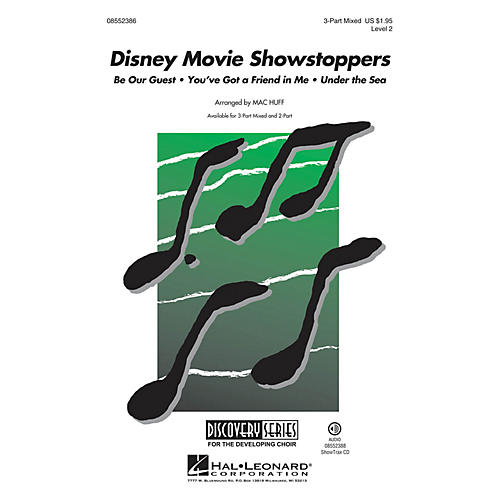 Hal Leonard Disney Movie Showstoppers (Discovery Level 2) 2-Part Arranged by Mac Huff