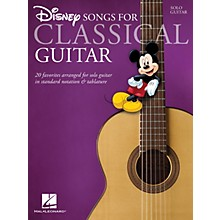 Hal Leonard Disney Songs for Classical Guitar (Standard Notation & Tab) Guitar Solo Series Softcover