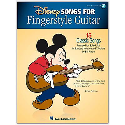 Hal Leonard Disney Songs for Fingerstyle Guitar Arranged for Guitar Solo Book/Audio Online