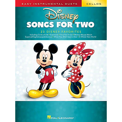 Hal Leonard Disney Songs for Two Cellos - Easy Instrumental Duets Series Songbook