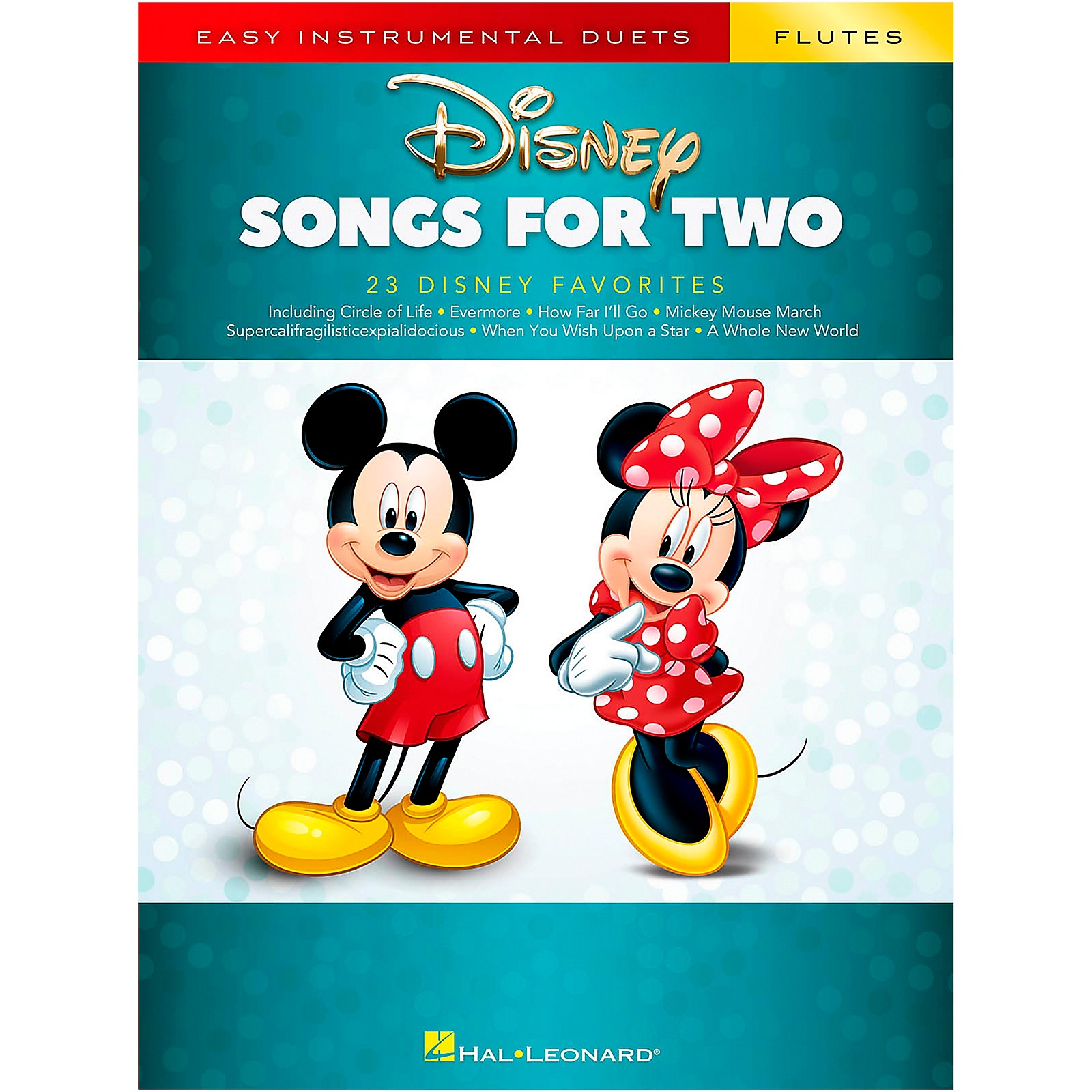 Hal Leonard Disney Songs for Two Flutes - Easy Instrumental Duets Series Songbook