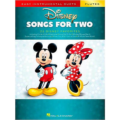 Hal Leonard Disney Songs for Two Flutes - Easy Instrumental Duets Series Songbook
