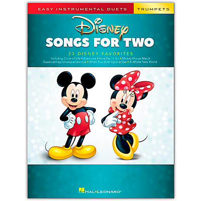 Hal Leonard Disney Songs for Two Trumpets - Easy Instrumental Duets Series Songbook