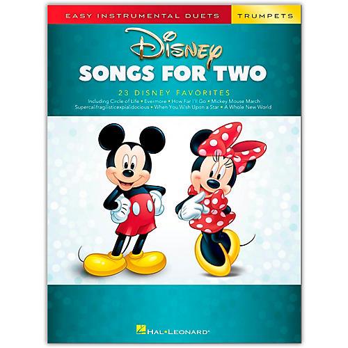 Hal Leonard Disney Songs for Two Trumpets - Easy Instrumental Duets Series Songbook