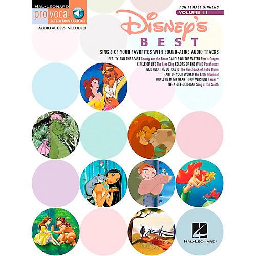 Hal Leonard Disney's Best - Pro Vocal Songbook for Female Singers Volume 11 Book/CD