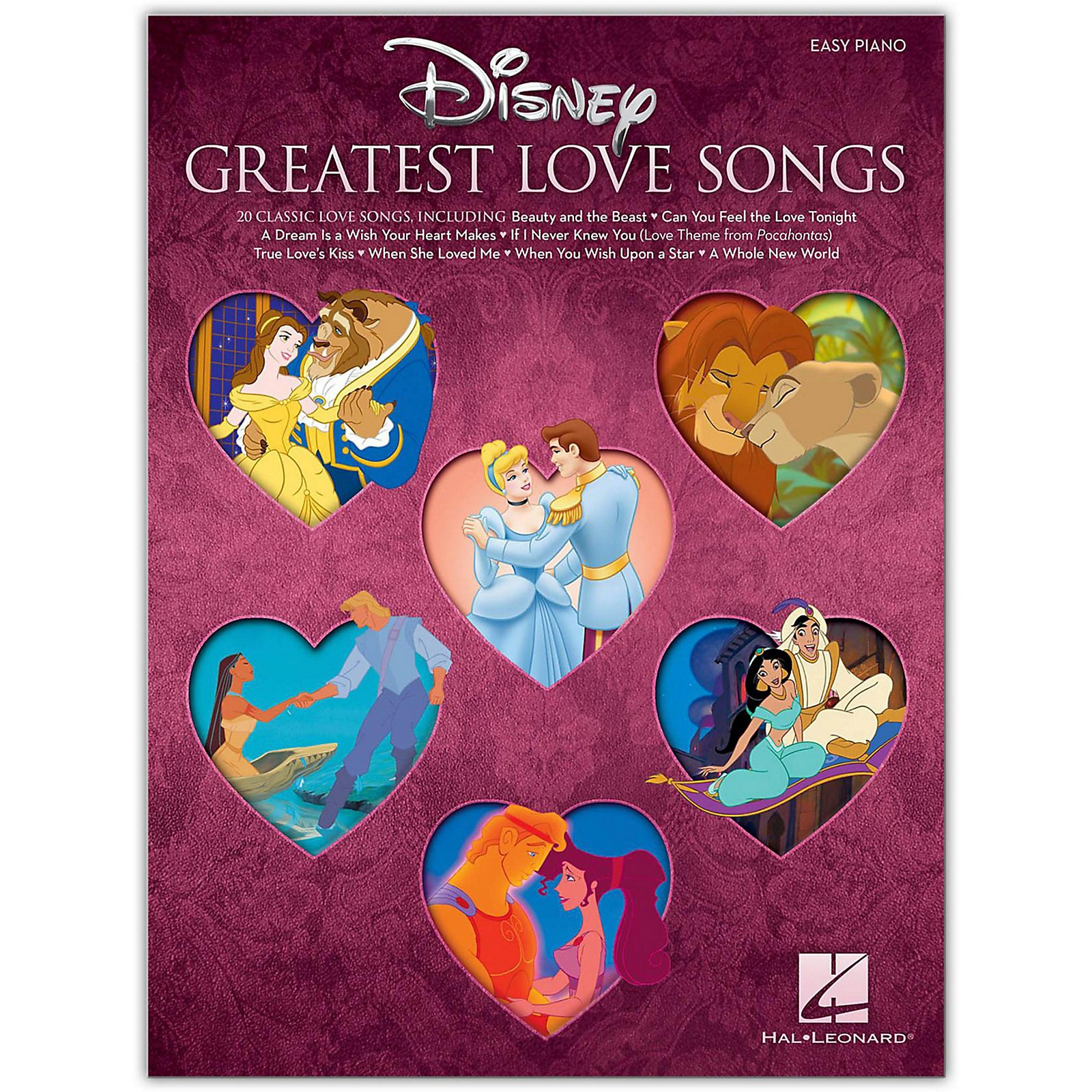 Hal Leonard Disney's Greatest Love Songs for Easy Piano