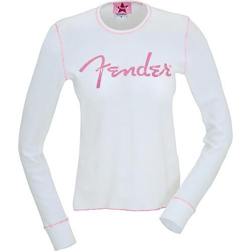 Fender Distressed Pink Logo Ladies Thermal Top