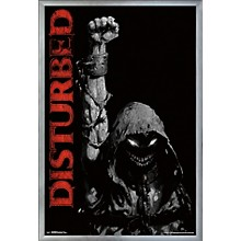 Disturbed - Fist Poster Framed Silver