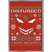 Disturbed - Ugly Xmas Sweater Poster Framed Silver