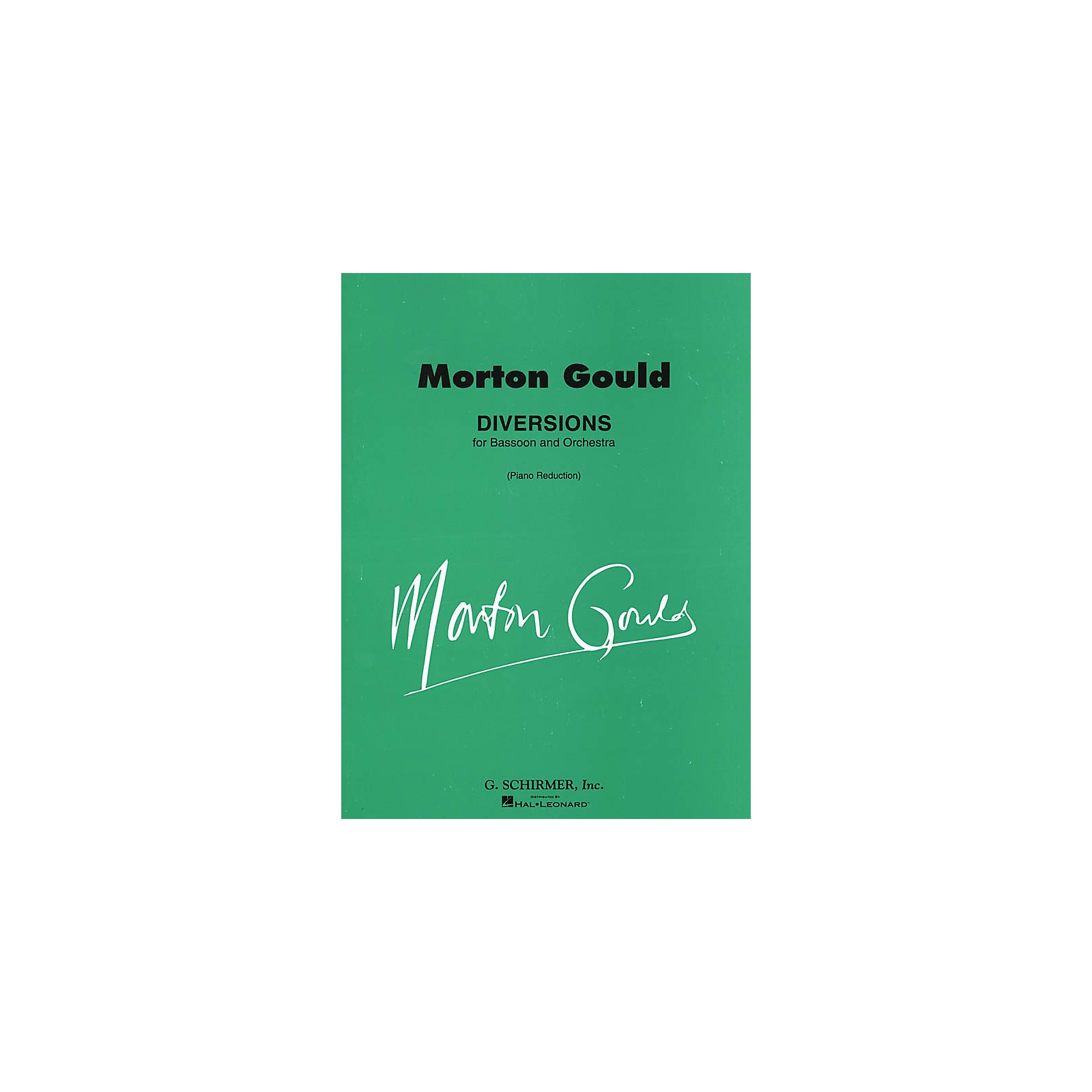 G. Schirmer Diversions (Score and Parts) Woodwind Solo Series Composed by Morton Gould