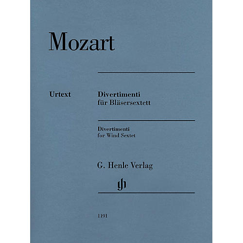 G. Henle Verlag Divertimenti for 2 Oboes, 2 Horns and 2 Bassoons by Wolfgang Amadeus Mozart Edited by Felix Loy