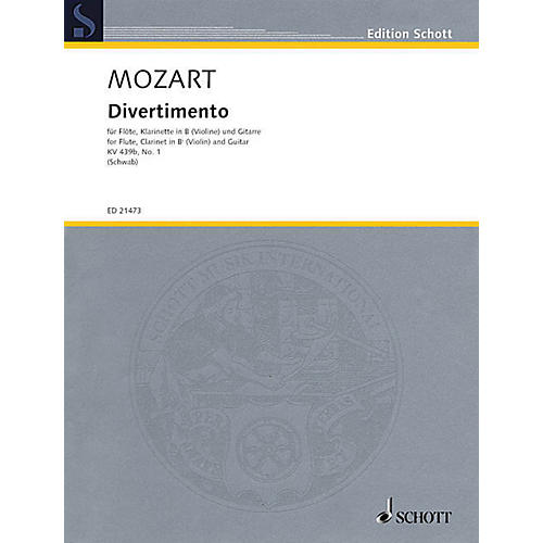 Schott Divertimento, K. 439b, No. 1 Ensemble Softcover by Wolfgang Amadeus Mozart Arranged by Siegfried Schwab